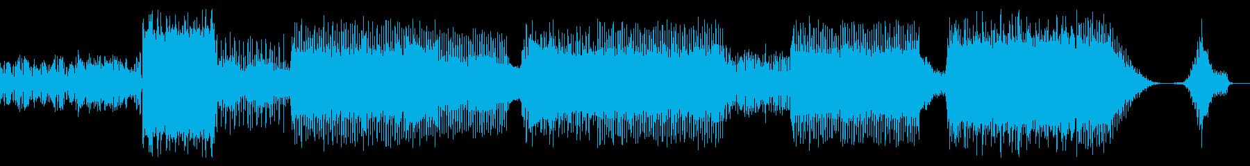 シンセサウンドゆらゆらポップスBGMの再生済みの波形