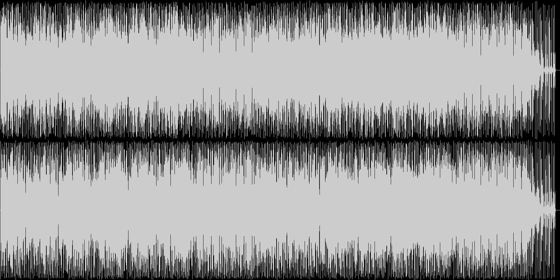軽やかなピアノのポップス曲の未再生の波形