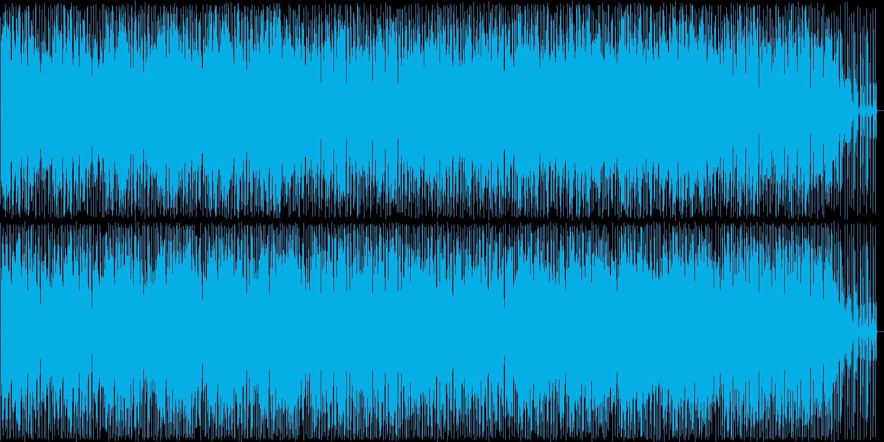 軽やかなピアノのポップス曲の再生済みの波形
