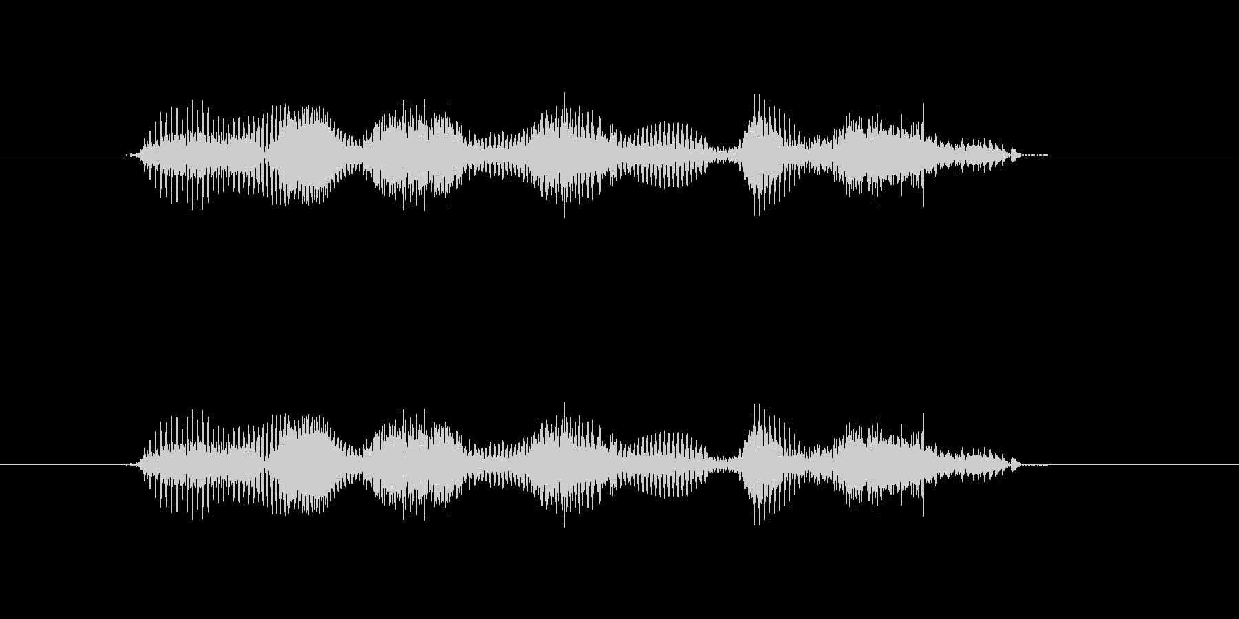【干支】イノシシ年の未再生の波形