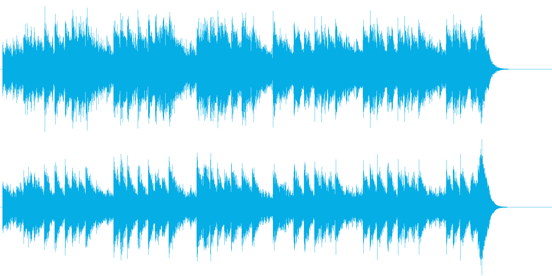 四季より「春」モチーフのピアノジングルBの再生済みの波形