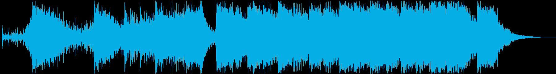 アクションハイブリッドトレイラー60秒の再生済みの波形