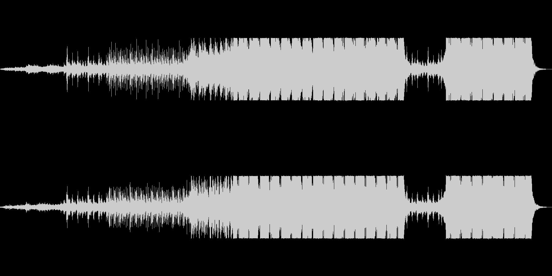 シネマティック和風インダストリアル曲の未再生の波形