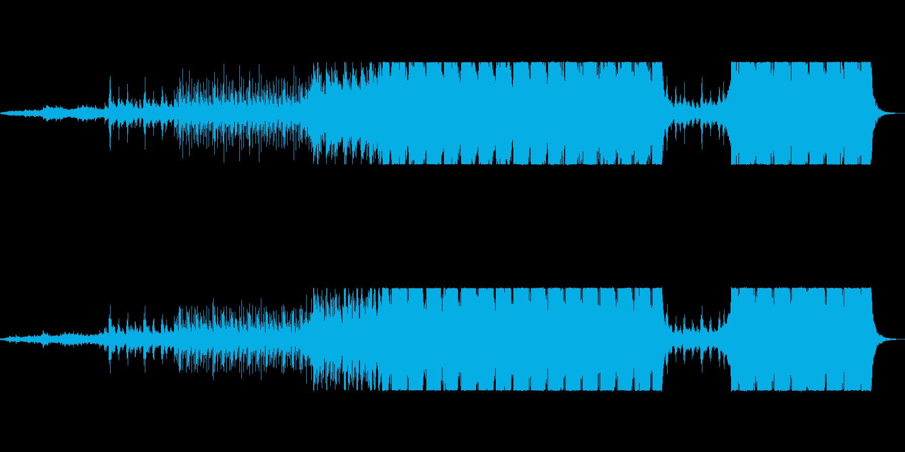 シネマティック和風インダストリアル曲の再生済みの波形