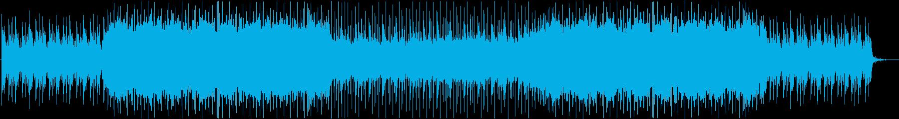 希望や未来、スタートを感じる曲の再生済みの波形