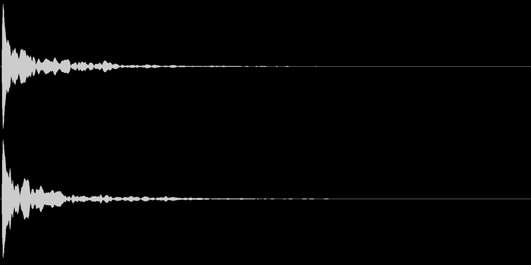 ポーン(テロップやゲームの決定音などに)の未再生の波形