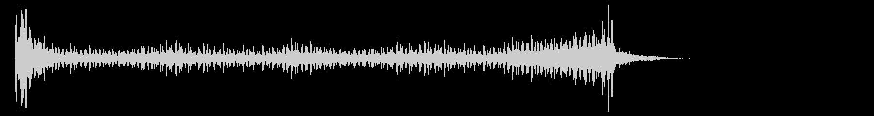 ドラムロール(スネア)長めの未再生の波形