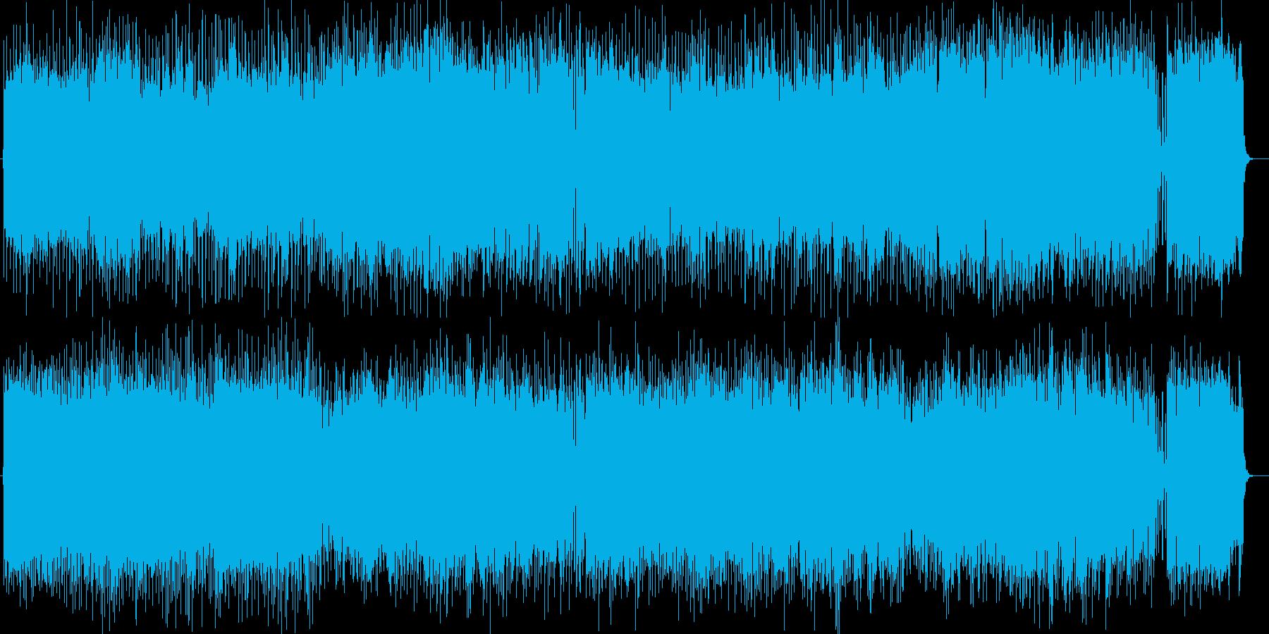 清々しいきらめき感シンセサイザー曲の再生済みの波形