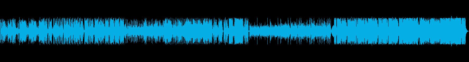 民族楽器が特徴のインド風サウンドのBGMの再生済みの波形