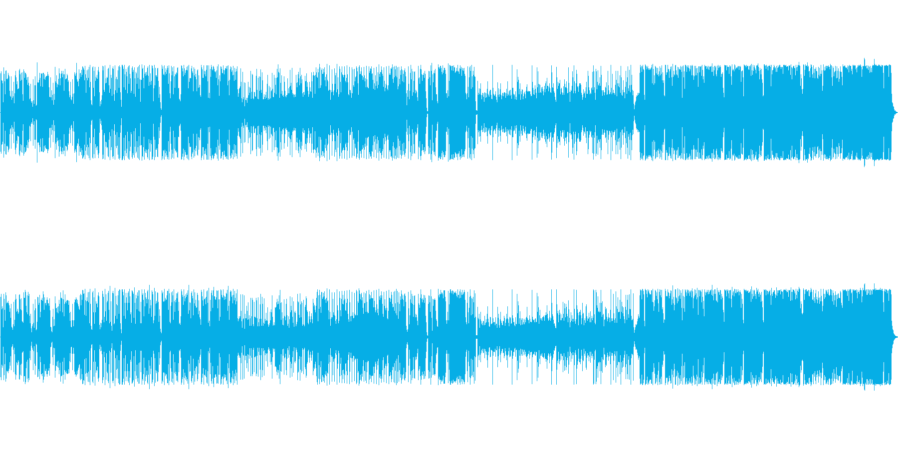 劇伴、エキゾチックで派手なシンセ曲の再生済みの波形