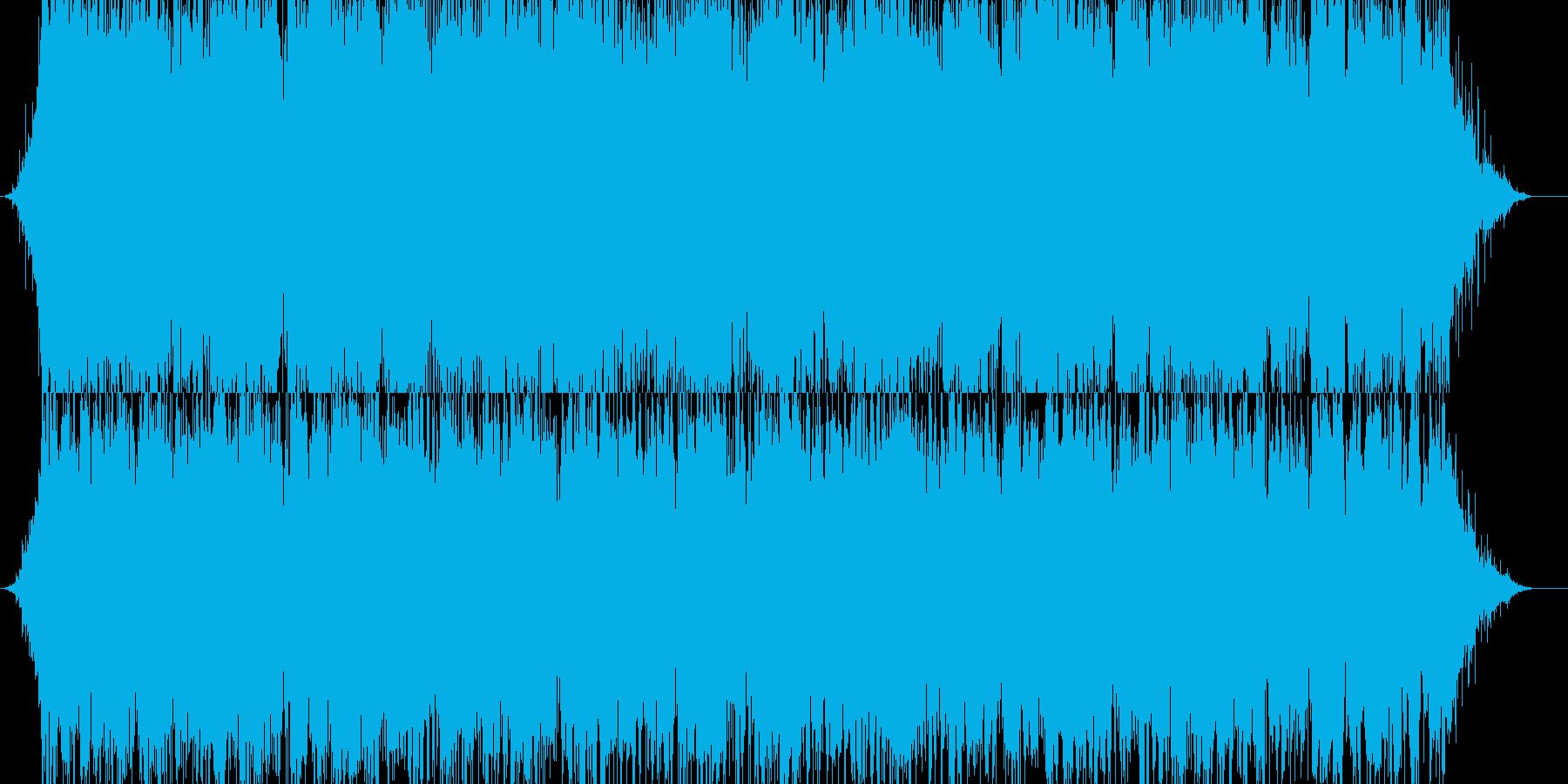 暗くて不思議な雰囲気のBGMの再生済みの波形