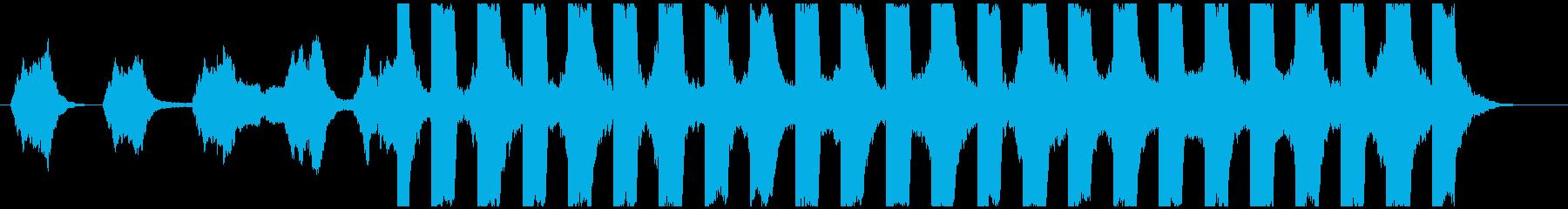 ダークでシリアスなシーン その2の再生済みの波形