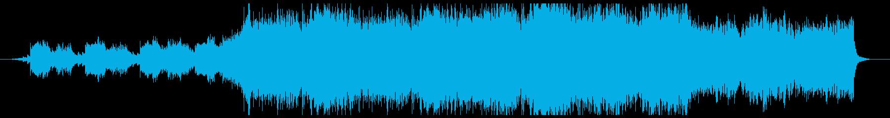 コーラスを用いた神秘的で疾走感のある曲の再生済みの波形