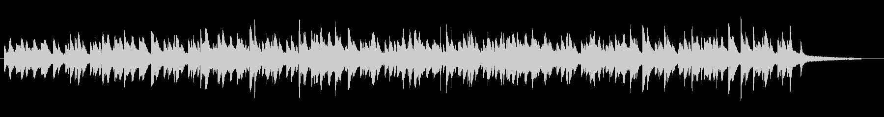 流れるような旋律のピアノ曲の未再生の波形