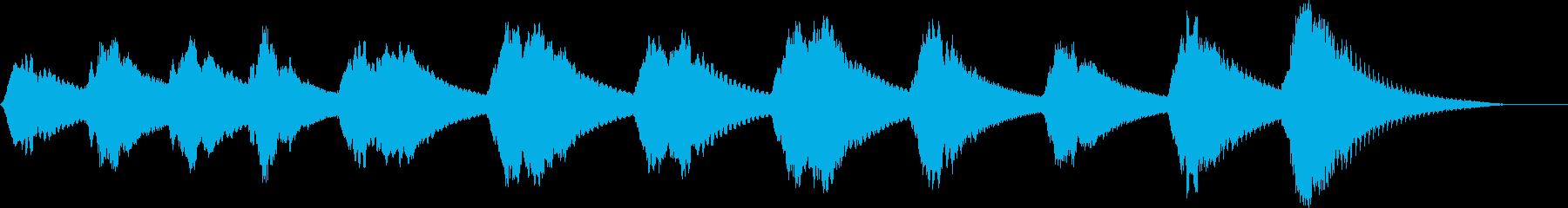 不穏な空気・心霊BGMの再生済みの波形