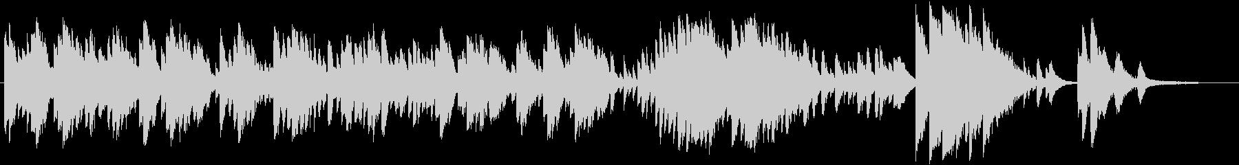 レトロモダンなピアノソロBGMの未再生の波形