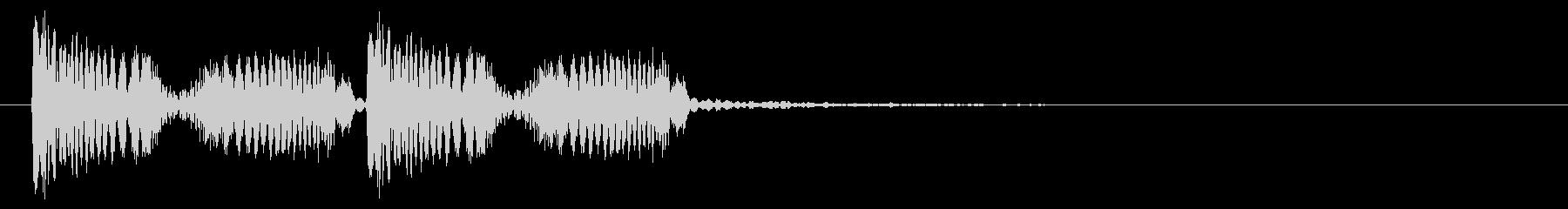 クラブ系 決定音01(スクラッチ)の未再生の波形