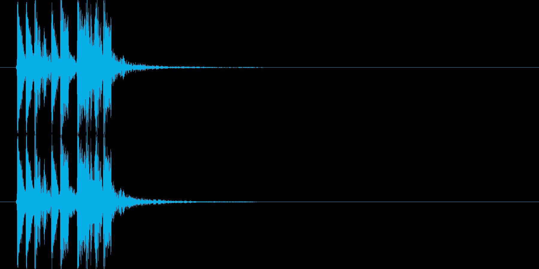 力強いドラムのポップスの再生済みの波形