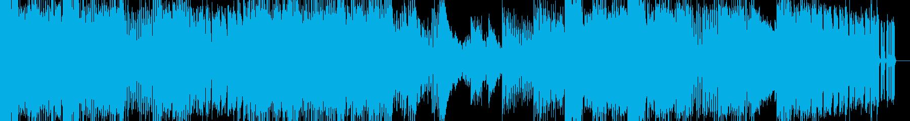 スポーツ向けのスピード感のある曲の再生済みの波形