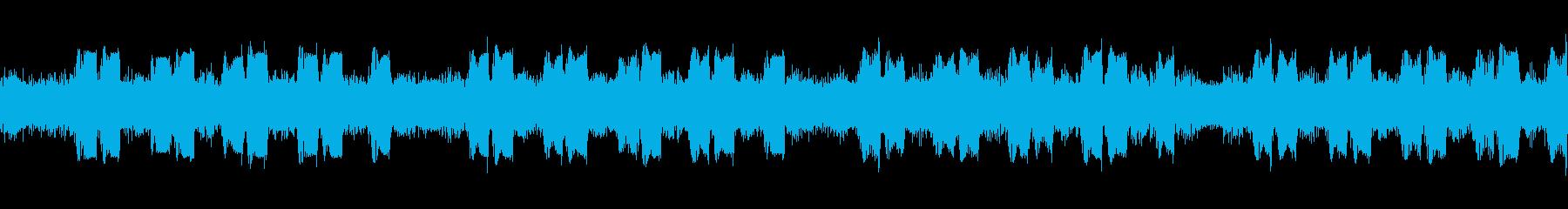 ヘビーギター1、BPM140、A、リフの再生済みの波形