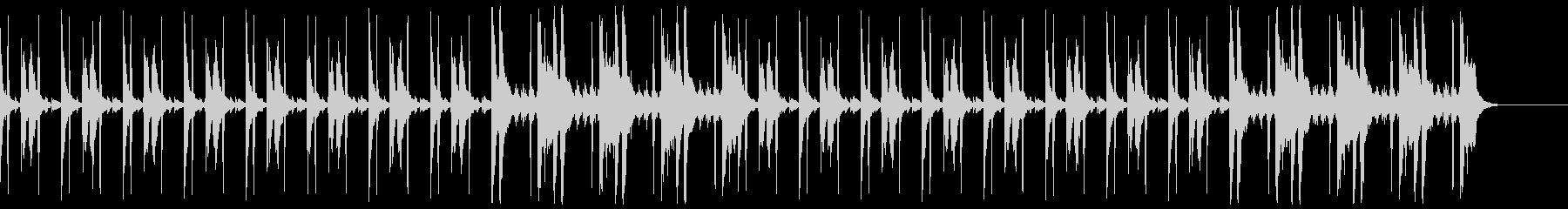 コソコソ怪しいBGM(ハイハット有り)の未再生の波形
