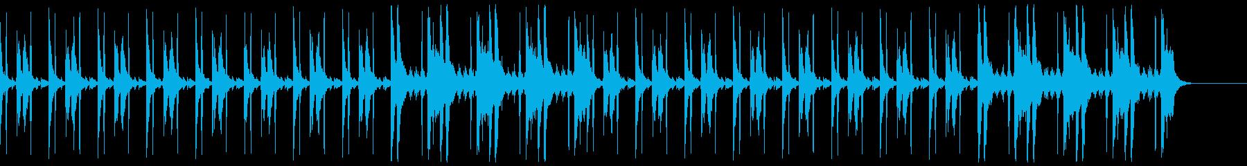 コソコソ怪しいBGM(ハイハット有り)の再生済みの波形