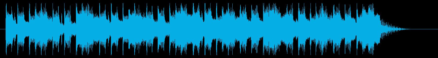 コミカルでクイズのシンキングタイム的な曲の再生済みの波形