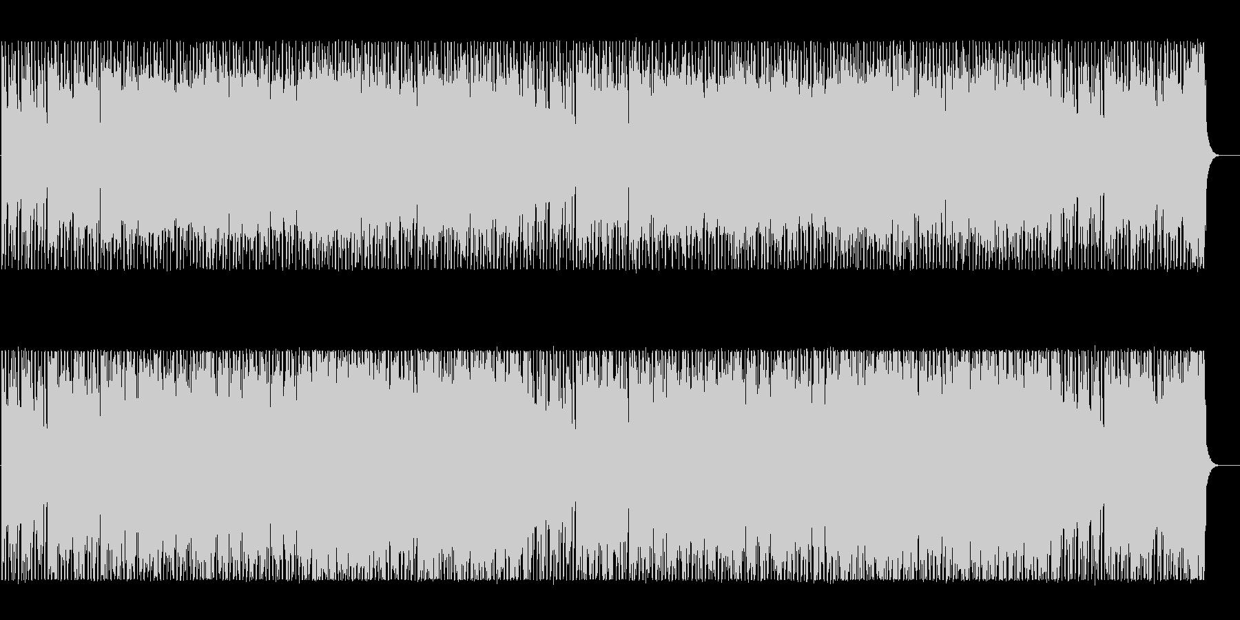 エキゾチックな雰囲気のテクノBGMの未再生の波形