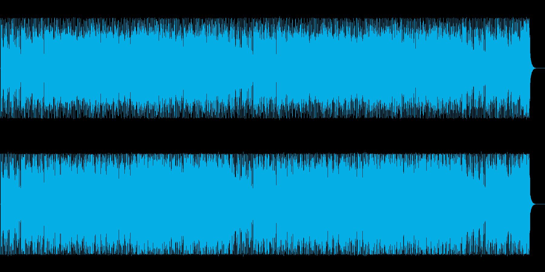 エキゾチックな雰囲気のテクノBGMの再生済みの波形
