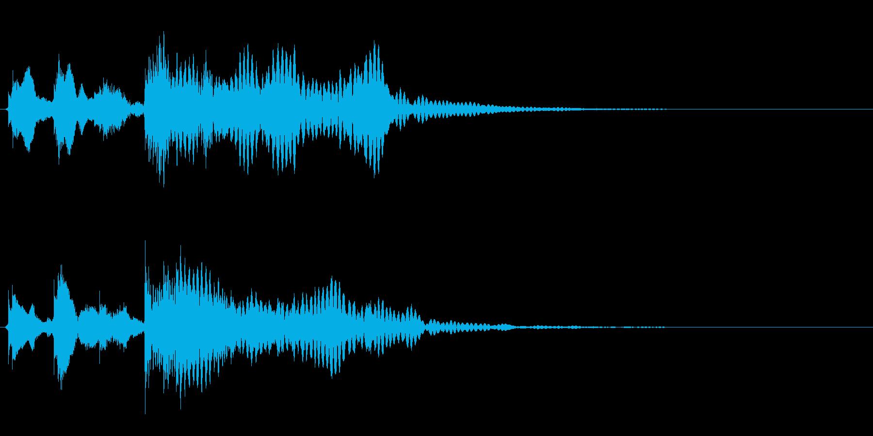 ゲーム、クイズ(不正解)_005の再生済みの波形