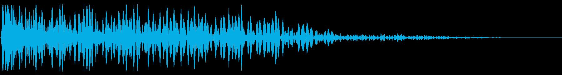 ディープグリッティアタックブームの影響の再生済みの波形