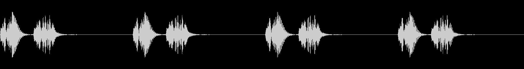 心臓の鼓動,心音の効果音,ドキドキ③の未再生の波形