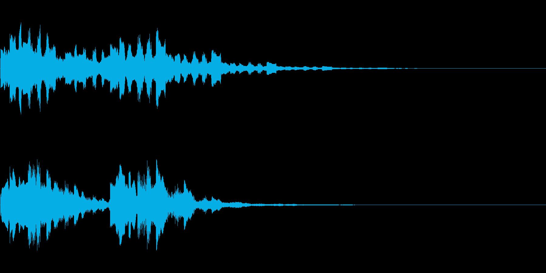 KANT入店音系アイキャッチ2回の再生済みの波形