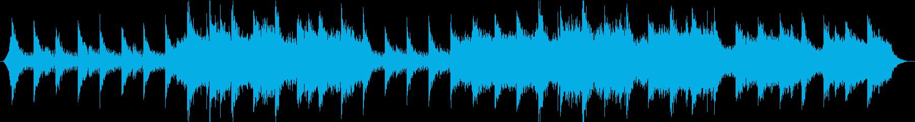浮遊感と静寂の夜をイメージしたBGMの再生済みの波形