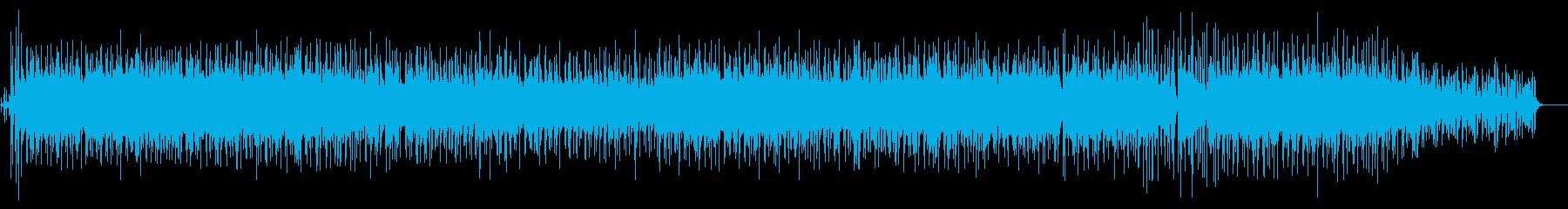 アップテンポのジャズミュージックの再生済みの波形