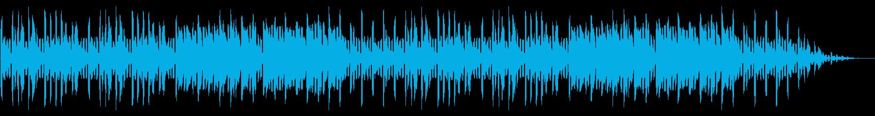GB風シューティングのエンディング曲の再生済みの波形