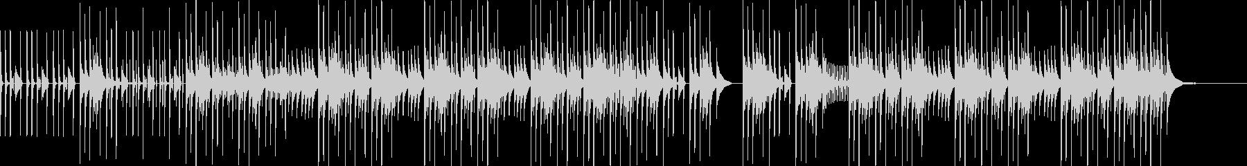 解説などに最適な音数の少ないBGMの未再生の波形