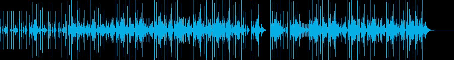 解説などに最適な音数の少ないBGMの再生済みの波形