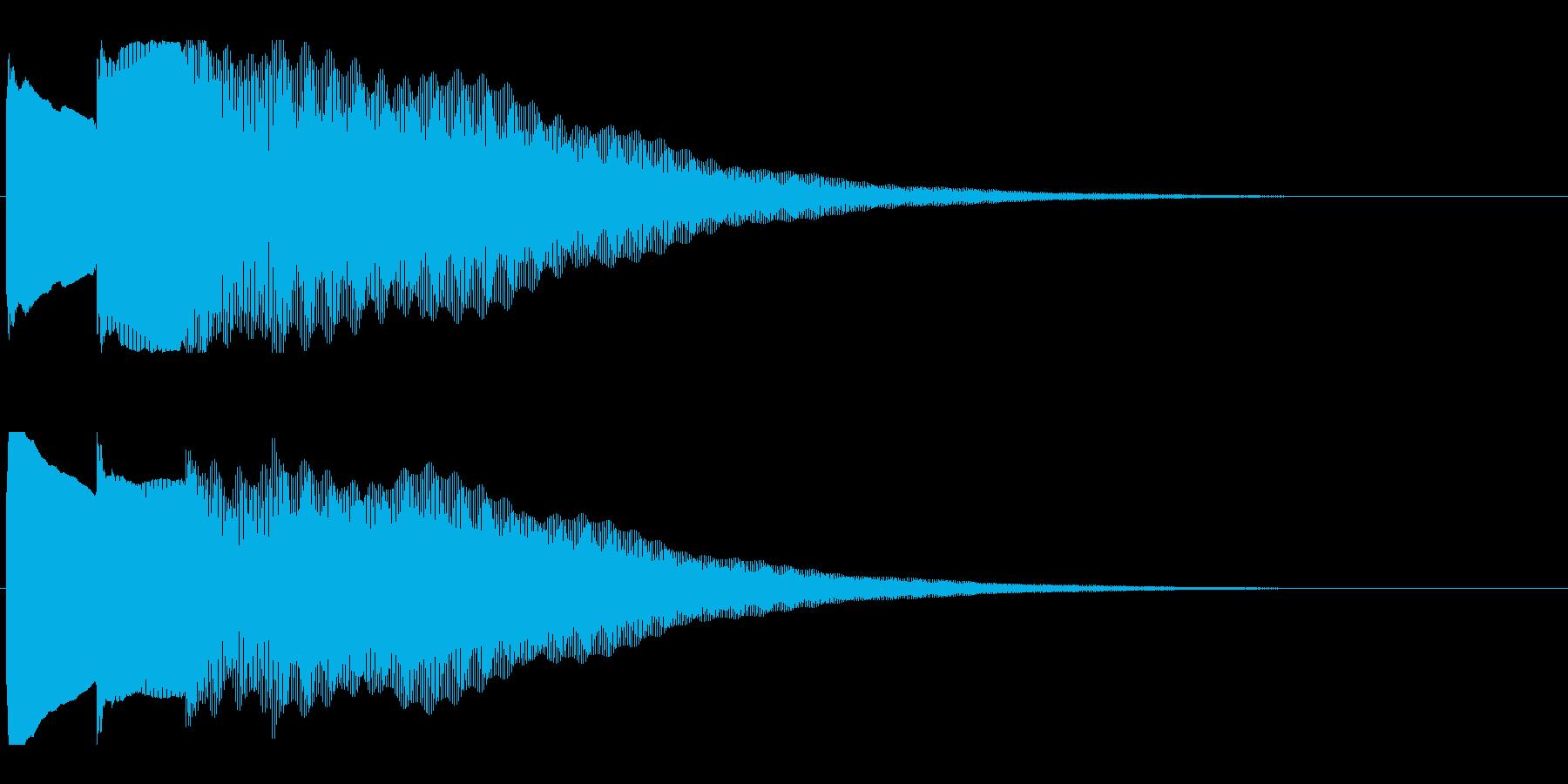 アナウンス後 チャイム-1_dryの再生済みの波形