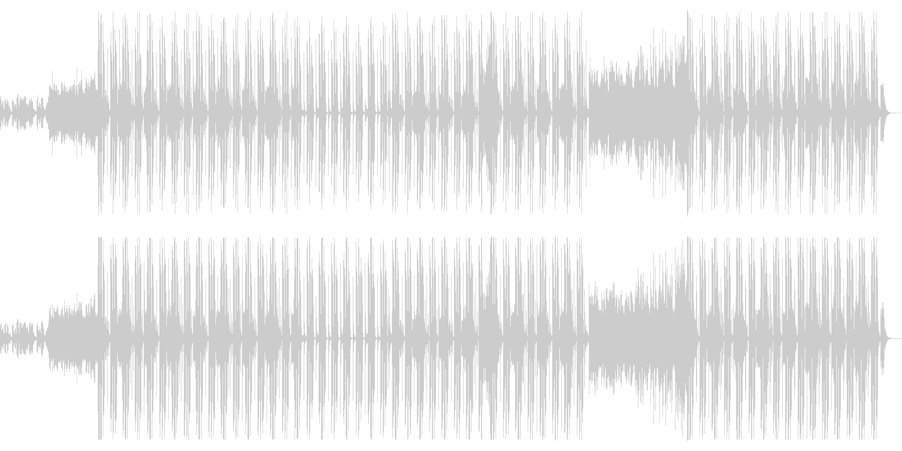 キャッチーなメロディーとポップなビートの未再生の波形