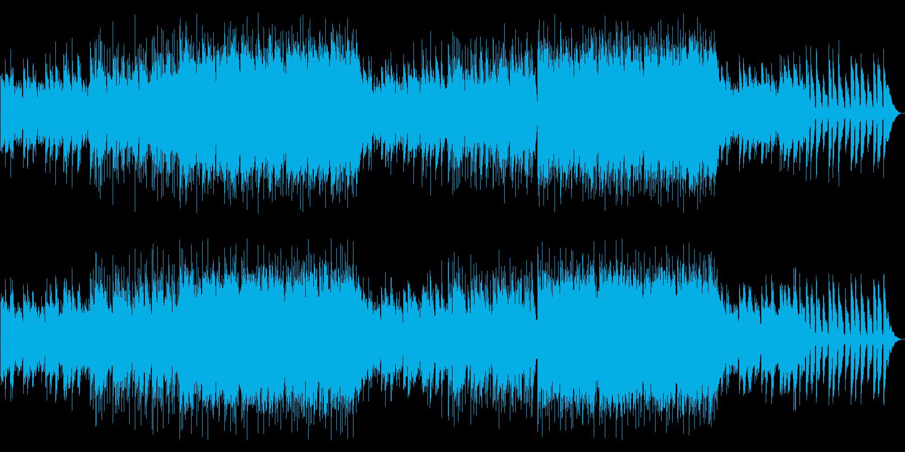 生演奏アコギ 感情的で高揚感のあるBGMの再生済みの波形