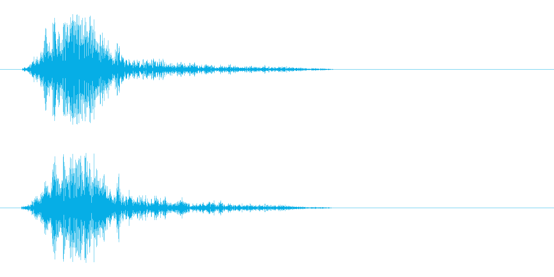 スパッ、っと風を切るような効果音の再生済みの波形