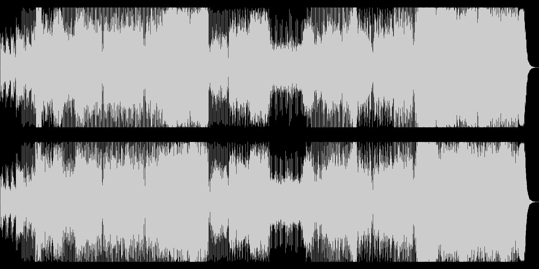 エキサイティングなパワフルEDMの未再生の波形