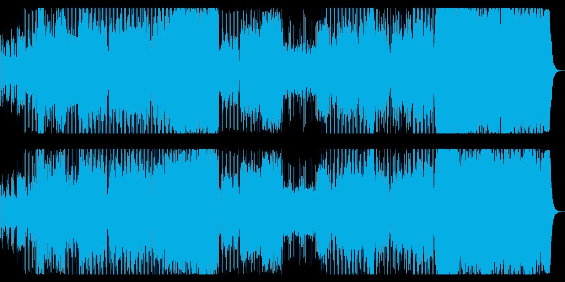エキサイティングなパワフルEDMの再生済みの波形