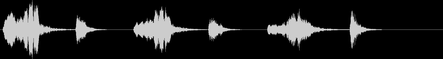 トムとジェリー風なアニメ音楽「忍び足」4の未再生の波形