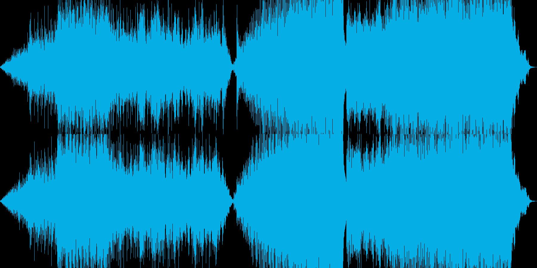 映像音楽ー駆ける馬の再生済みの波形