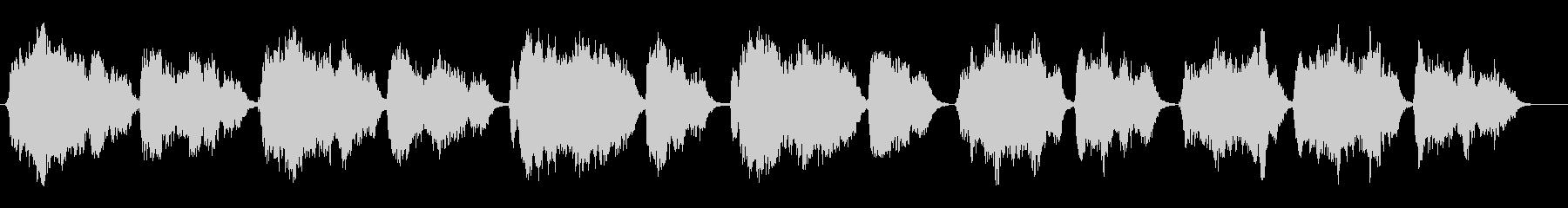グレゴリオ聖歌 キリエⅣ 斉唱 教会音楽の未再生の波形