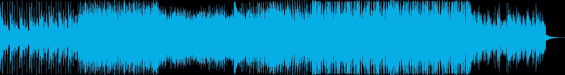 爽やかで軽快、お洒落なピアノのハウス曲の再生済みの波形