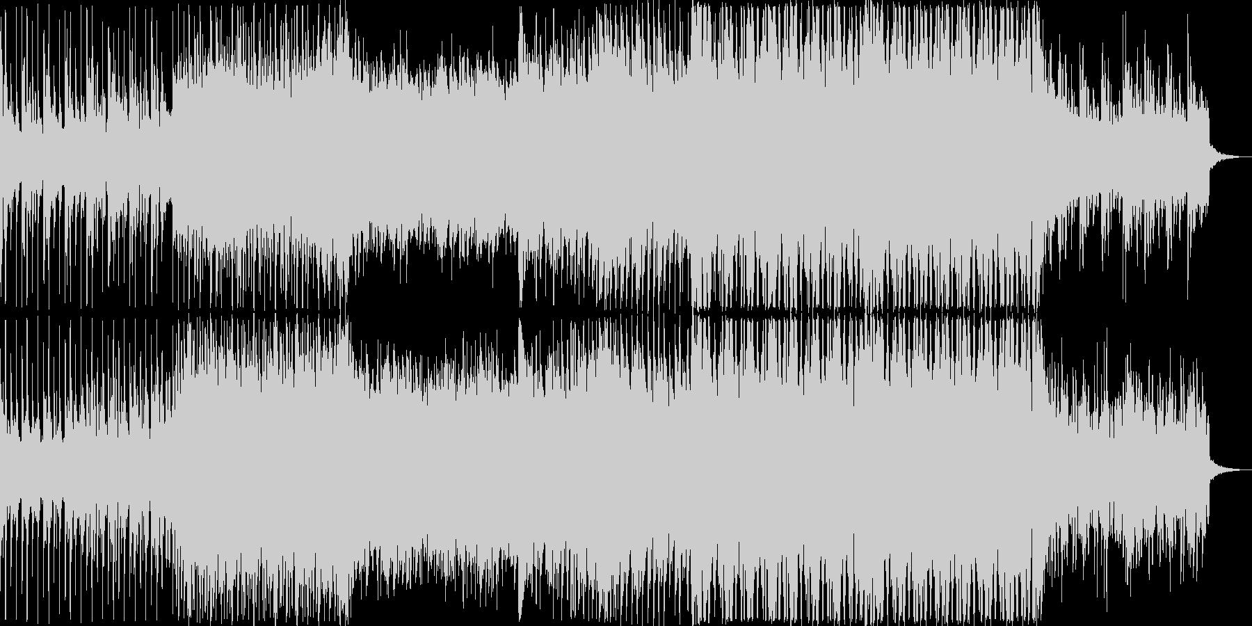 爽やかで軽快、お洒落なピアノのハウス曲の未再生の波形