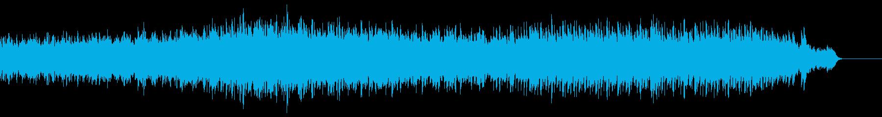 キラキラした感じのBGMの再生済みの波形